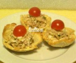 tartellette con tonno e uova