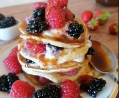 "Pancake con yogurt e frutta ""Contest dessert yogurt"""
