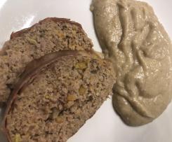 Polpettone con porro e zucca gialla e contorno di purè ai funghi (contest secondi e contorni)