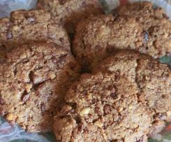"""Cookies di ceci nocciole e cioccolato """"contest legumi """""""