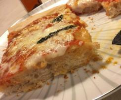 Pizza in teglia con lievito madre (lievitazione 24 ore)