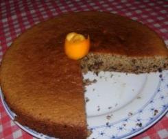 torta ciocco fondente e arancia