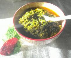 Pesto di finocchietto selvatico pomodori secchi e alici- contest pesto e condimenti
