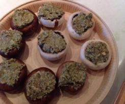 Funghi ripieni gorgonzola e noci