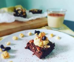 """Brownies di fagioli neri con crema di ceci dolce VEGAN SENZAGLUTINE """"contest legumi maggio 2020"""""""