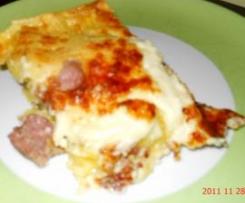 Lasagne bianche porcini e salsiccia