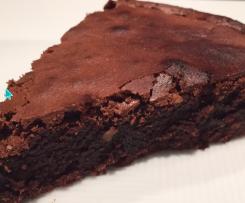Torta proteica noci e cioccolato