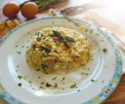 Risotto con asparagi, pancetta croccante e tuorlo Contest Primavera