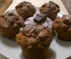 Muffin cioccolato e fragole senza glutine