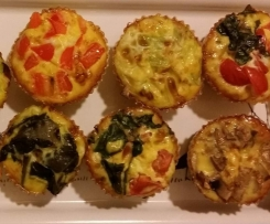 Mini tortini (muffins) di verdure, colorati e divertenti