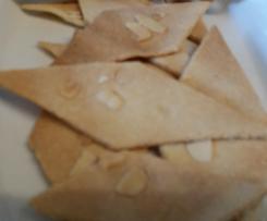 Crackers salati con farina di mandorle
