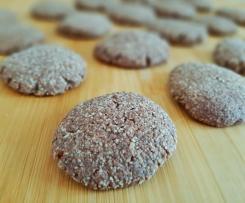 Biscotti di avena e cacao - senza uova e burro