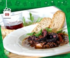 Polpo al vino rosso - in guazzetto - Natale