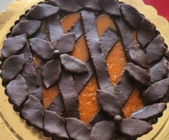 Crostata al cacao con composto di zucca al rum