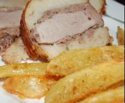 FILETTO IN CROSTA DI BAGUETTE con patate sabbiate