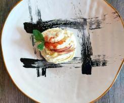 Mousse salata di ricotta con gamberi  e carciofo (contest ristorante )