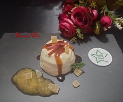 DESSERT AL CIOCCOLATO BIANCO CON CREMA DI MELE ALLA GRAPPA ~~ contest ristorante ~~