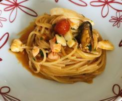 Spaghetti risottati ai frutti di mare
