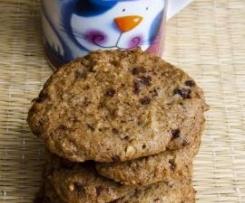 Cookies cioccolato e nocciole