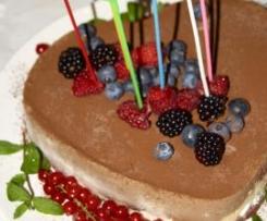 Semifreddo panna, amarene e cioccolato