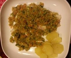 filetto di persico con verdurine primavera