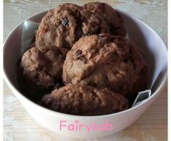 Cookies al Cacao e Mirtilli Rossi