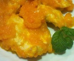 Bocconcini di pollo  con salsa alle carote
