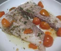 Pesce persico a vapore