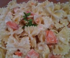 Insalata di pasta salmone&yogurt aromatizzata alla menta  Contest pic nic