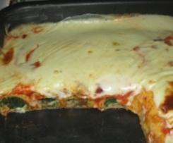 Crepes al forno con speck e spinaci