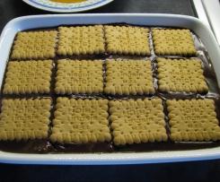 Budino al cacao con biscotti alcolici