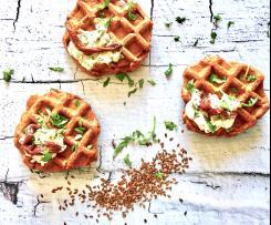 Waffle veg salati