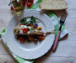 Rana Pescatrice ai 3 Pomodorini e Patate viola al cartoccio (contest secondi di pesce)
