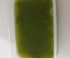 Brodo vegetale con purea di verdure