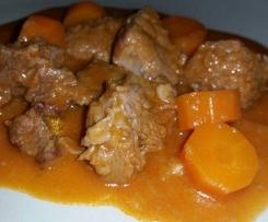Spezzatino di manzo con carote