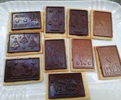 Biscotti di frolla con tavoletta di cioccolata