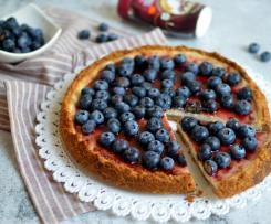 Cheesecake ai mirtilli senza uova