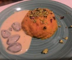 Budino di carote con salsa al cioccolato bianco e mandorle - Contest budino fatto in casa
