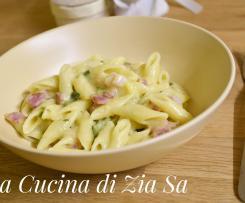 Pasta risottata pancetta e zucchine