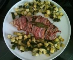 Filetto di Tacchino alla Salvia e Bacon con Zucchine
