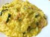 risotto allo zafferano con zucchine per 4 persone