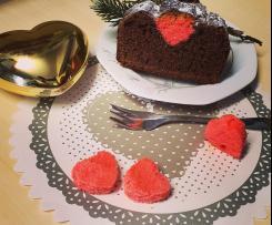Plum-cake con sorpresa (san valentino)