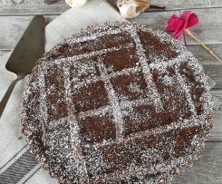 Crostata senza glutine con crema pasticcera al cioccolato
