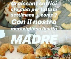 Croissant sfogliati con lievito madre vivo