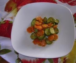 Carote e zucchine alle erbette