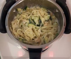 Linguine risottate gamberetti e zucchine