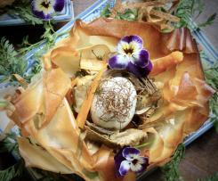 Cestini di pasta fillo ripieni di verdure (Ed è primavera)