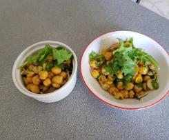 "insalata di ceci, gamberi e rucola  ""contest contorni di verdure""."