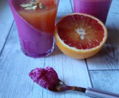 Panna cotta alla barbabietola rossa con salsa all'arancia a modo mio (contest rape)