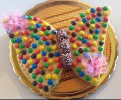 Torta farfalla con crema al limone